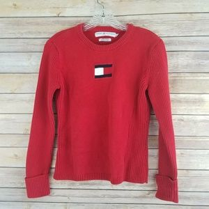 Tommy Hiliger Jeans Womens Red Sweater